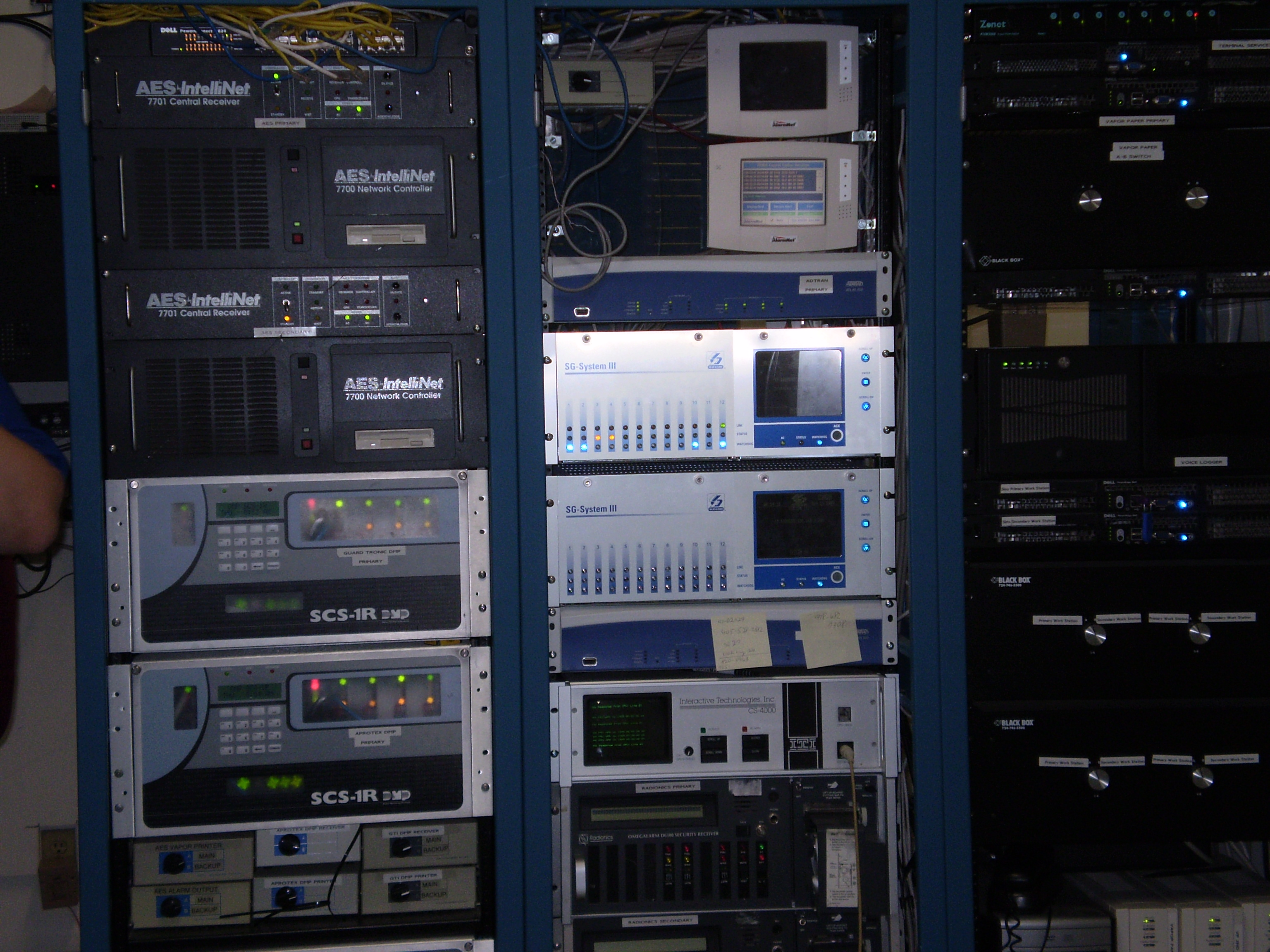 AES, DMP, AlarmNet, and SurGard receivers